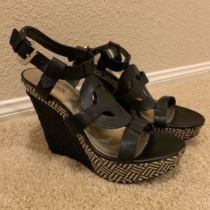Guess Black Wedges, Size 8.5